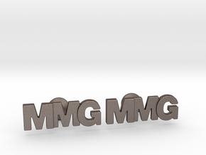 Monogram Cufflinks MMG in Polished Bronzed Silver Steel