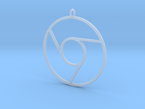 Google Chrome Pendant in Smooth Fine Detail Plastic