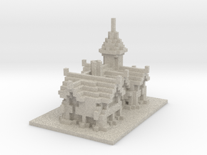 Minecraft Medieval House in Natural Sandstone