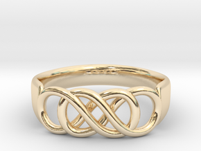 Double Infinity Ring 14.5mm Size3-0.5 in 14K Yellow Gold