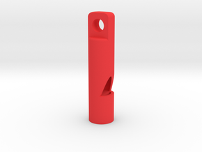 Whistle - small, powerful  ! ( 90 - 91 dB ) in Red Processed Versatile Plastic