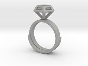 Diamond Ring US 7 3/4 in Aluminum