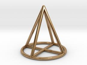 Cone Geometric Pendant in Polished Brass