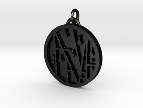 PRINTS MONEY - THE SIGIL OF WEALTH AND HAVING in Matte Black Steel