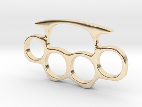 Brass Knuckles Miniature in 14k Gold Plated Brass