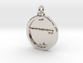 23S – XVIII SURVIVE IN INTOLERABLE SITUATIONS in Rhodium Plated Brass