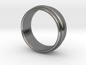 Ø 16.51 Mm Classic Beauty Ring Ø 0.650 Inch in Fine Detail Polished Silver