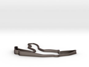 Mini Spa Francorchamps   Topographic  in Polished Bronzed Silver Steel