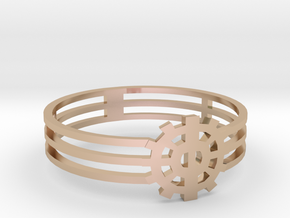 [The 100] Heda Forehead Piece Ring (US Size 9) in 14k Rose Gold
