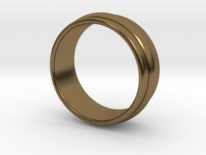 Ø19.84 Mm Classic Beauty RIng Ø0.781 Inch in Polished Bronze