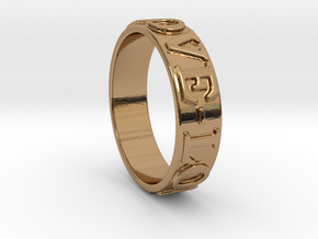 Love Ring in Polished Brass