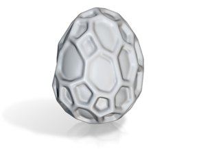 DRAW geo - alien egg in White Natural Versatile Plastic: Small