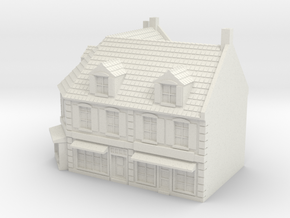 1:350 Corner House 1 in White Natural Versatile Plastic