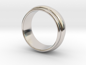 Ø 19.62 Mm Classic Beauty Ring Ø 0.772 Inch in Rhodium Plated Brass
