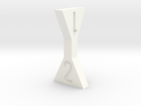 d4 Twisted Hourglass in White Strong & Flexible