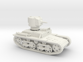 Carden Loyd Light Tank Mk.VIII (1:56 scale) in White Natural Versatile Plastic