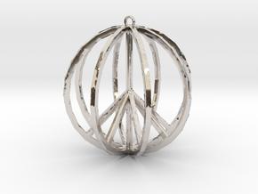Global Peace Pendant deSign in Platinum