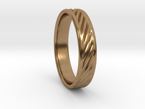Hollow lines Ring in Natural Brass