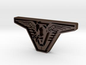 Atlantis Badge in Polished Bronze Steel