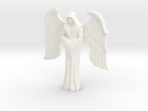 Imperial Saint, winged in White Processed Versatile Plastic
