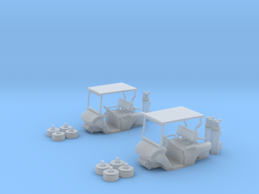 HO/1:87 Golf cart x2 kit in Frosted Ultra Detail