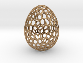 Honeycomb - Decorative Egg - 2.3 inch in Polished Brass
