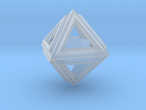 Octahedron Frame Pendant V2 Small in Smooth Fine Detail Plastic