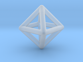 Minimal Octahedron Frame Pendant Small in Smooth Fine Detail Plastic