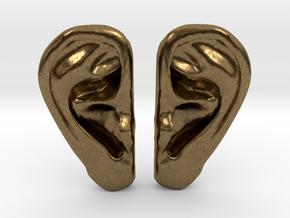 Ear Stud Earrings in Natural Bronze