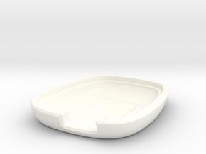 R Series Housing Back V1 in White Processed Versatile Plastic