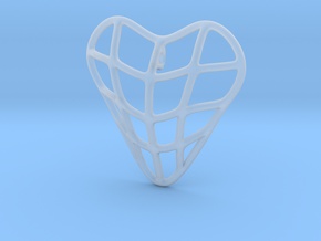 Heart cage pendant in Smooth Fine Detail Plastic