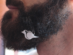 Robin for beard - lateral wearing in White Natural Versatile Plastic