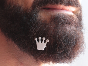 Crown for beard - front wearing in White Natural Versatile Plastic