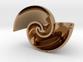 Golden Vortex Shell CCW in Polished Brass