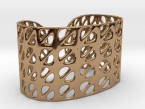 Bracelet, Generative Pattern, size M in Polished Brass