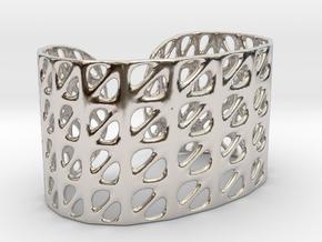 Bracelet, Generative Pattern, size M in Rhodium Plated Brass