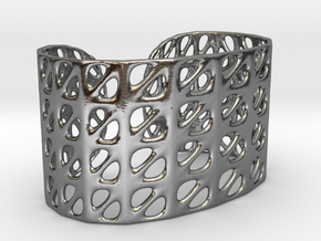 Bracelet, Generative Pattern, size M in Polished Silver