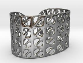 Bracelet, Generative Pattern, size M in Polished Silver