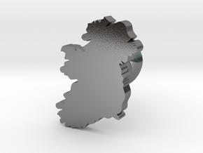 Ireland cufflink  in Polished Silver