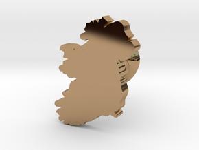 Ireland cufflink  in Polished Brass