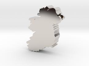 Ireland Pendent awd in Rhodium Plated Brass