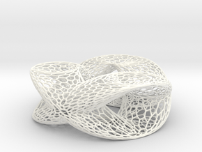 Honeycomb Double Trefoil in White Processed Versatile Plastic