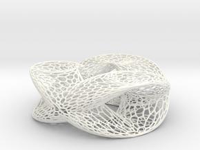 Honeycomb Double Trefoil in White Processed Versatile Plastic