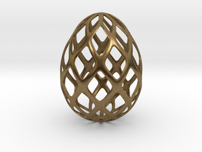 Trellis - Decorative Egg - 2.3 inches in Natural Bronze