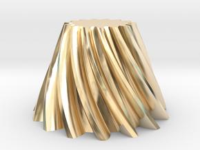 Bevel helical gear Module 4 in 14k Gold Plated Brass