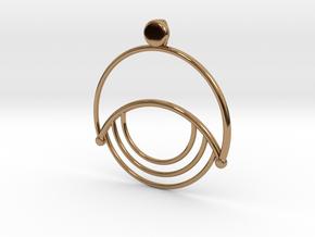 Modern Moon Pendant in Polished Brass