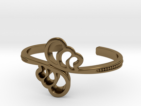 Wave Cuff Bracelet in Polished Bronze
