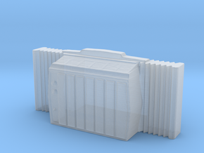 Window AC Unit - N 160:1 Scale in Smooth Fine Detail Plastic