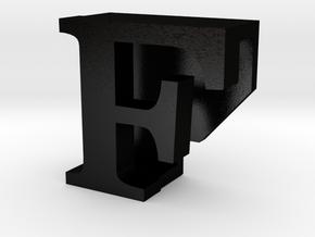 BandBit F, Fitbit Flex (Fits parallel to strap.) in Matte Black Steel