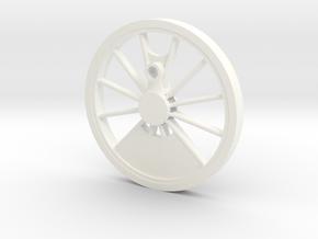 Reno, Inyo, Genoa Driver Wheel in White Processed Versatile Plastic